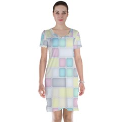 Background Abstract Pastels Square Short Sleeve Nightdress