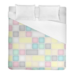 Background Abstract Pastels Square Duvet Cover (full/ Double Size)