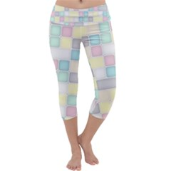 Background Abstract Pastels Square Capri Yoga Leggings