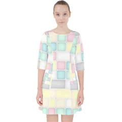 Background Abstract Pastels Square Pocket Dress