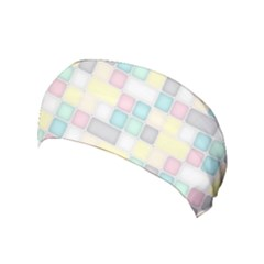 Background Abstract Pastels Square Yoga Headband
