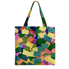 List Post It Note Memory Zipper Grocery Tote Bag