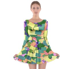 List Post It Note Memory Long Sleeve Skater Dress