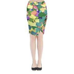 List Post It Note Memory Midi Wrap Pencil Skirt