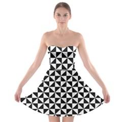 Triangle Pattern Simple Triangular Strapless Bra Top Dress