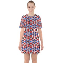 Artworkbypatrick1 14 1 Sixties Short Sleeve Mini Dress