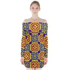 Artworkbypatrick1 16 Long Sleeve Off Shoulder Dress