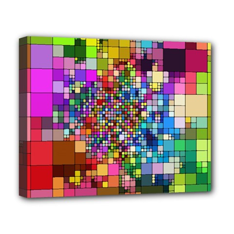 Abstract Squares Arrangement Deluxe Canvas 20  X 16