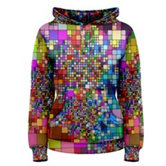 Abstract Squares Arrangement Women s Pullover Hoodie