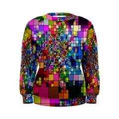 Abstract Squares Arrangement Women s Sweatshirt