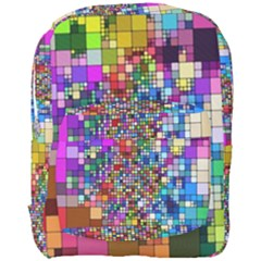 Abstract Squares Arrangement Full Print Backpack