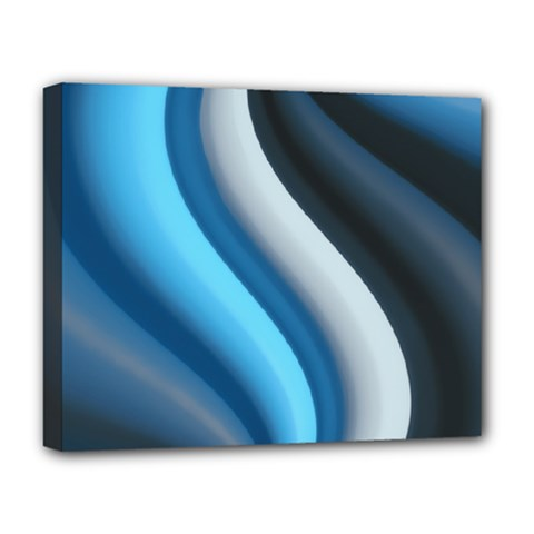 Abstract Pattern Lines Wave Deluxe Canvas 20  X 16