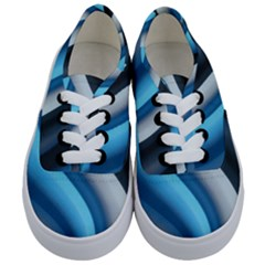 Abstract Pattern Lines Wave Kids  Classic Low Top Sneakers