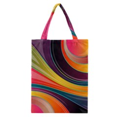 Abstract Colorful Background Wavy Classic Tote Bag