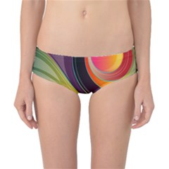 Abstract Colorful Background Wavy Classic Bikini Bottoms