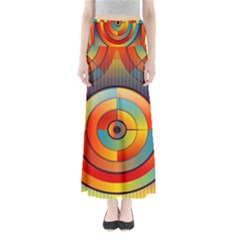 Background Colorful Abstract Full Length Maxi Skirt