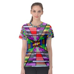 Art Vanishing Point Vortex 3d Women s Sport Mesh Tee