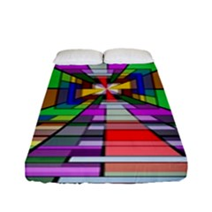 Art Vanishing Point Vortex 3d Fitted Sheet (full/ Double Size)