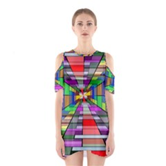 Art Vanishing Point Vortex 3d Shoulder Cutout One Piece