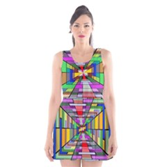 Art Vanishing Point Vortex 3d Scoop Neck Skater Dress