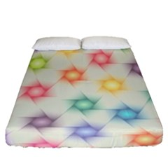 Polygon Geometric Background Star Fitted Sheet (queen Size) by Nexatart