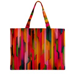 Background Abstract Colorful Zipper Mini Tote Bag
