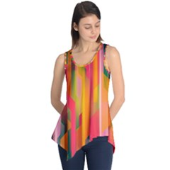 Background Abstract Colorful Sleeveless Tunic