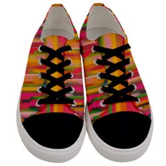 Background Abstract Colorful Men s Low Top Canvas Sneakers