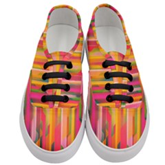Background Abstract Colorful Women s Classic Low Top Sneakers