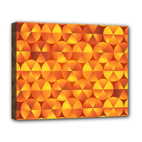 Background Triangle Circle Abstract Deluxe Canvas 20  X 16   by Nexatart