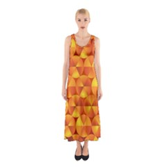 Background Triangle Circle Abstract Sleeveless Maxi Dress