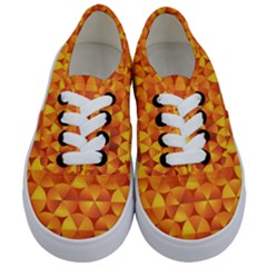 Background Triangle Circle Abstract Kids  Classic Low Top Sneakers