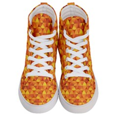Background Triangle Circle Abstract Men s Hi Top Skate Sneakers