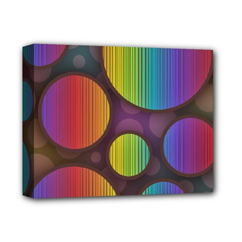 Background Colorful Abstract Circle Deluxe Canvas 14  X 11
