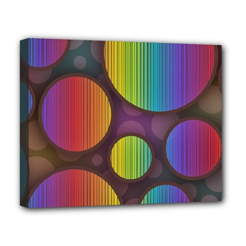 Background Colorful Abstract Circle Deluxe Canvas 20  X 16