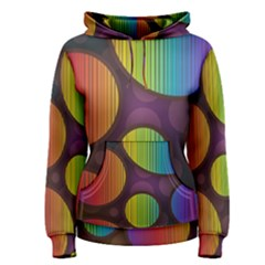Background Colorful Abstract Circle Women s Pullover Hoodie