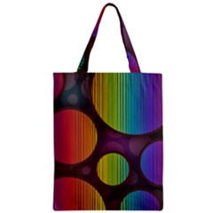 Background Colorful Abstract Circle Zipper Classic Tote Bag