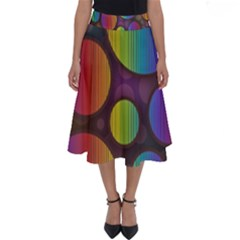 Background Colorful Abstract Circle Perfect Length Midi Skirt