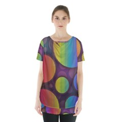 Background Colorful Abstract Circle Skirt Hem Sports Top