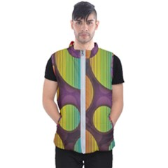 Background Colorful Abstract Circle Men s Puffer Vest