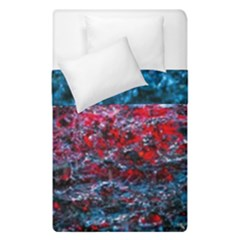 Water Color Red Duvet Cover Double Side (single Size)