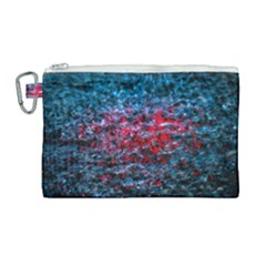 Water Color Red Canvas Cosmetic Bag (large) by FunnyCow