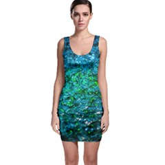 Water Color Green Bodycon Dress by FunnyCow