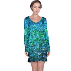Water Color Green Long Sleeve Nightdress
