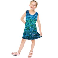 Water Color Green Kids  Tunic Dress