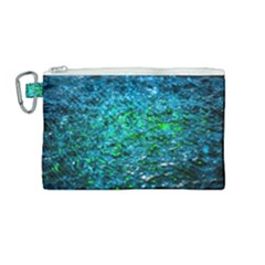 Water Color Green Canvas Cosmetic Bag (medium) by FunnyCow