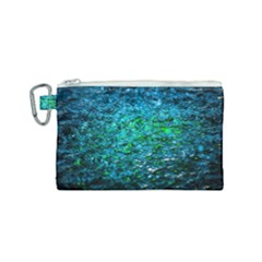 Water Color Green Canvas Cosmetic Bag (small) by FunnyCow