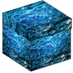 Water Color Blue Storage Stool 12   by FunnyCow