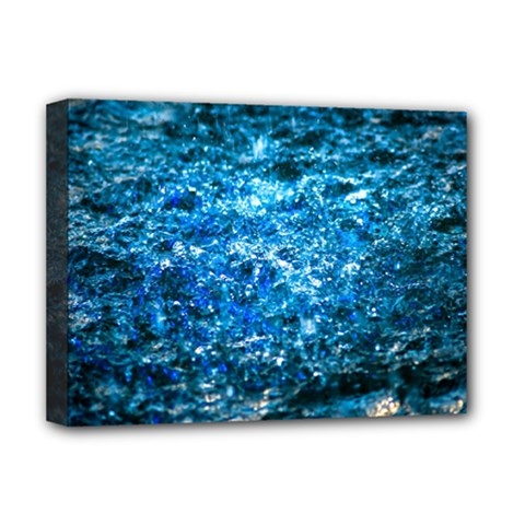 Water Color Blue Deluxe Canvas 16  X 12   by FunnyCow