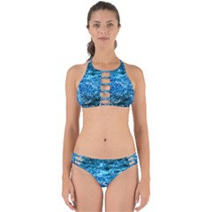 Water Color Blue Perfectly Cut Out Bikini Set by FunnyCow